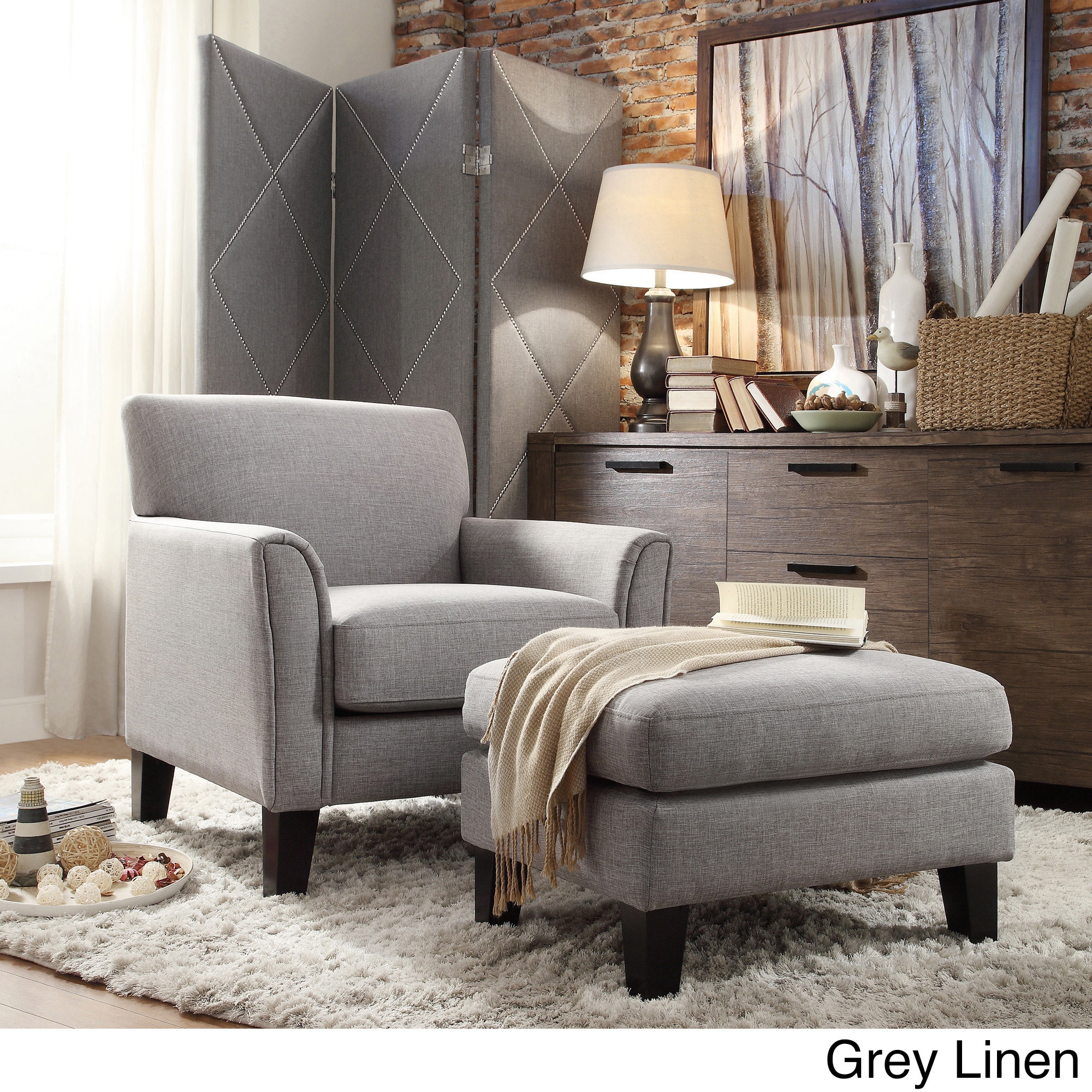 Delightful Uptown Modern Accent Chair And Ottoman By INSPIRE Q Classic