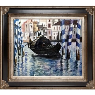 Edouard Manet The Grand Canal, Venice II Hand Painted Framed Canvas Art Finish