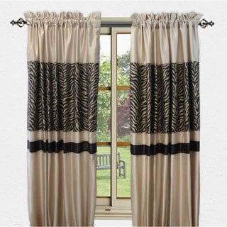 Sherry Kline True Safari Taupe 84-inch Curtain Panel Pair