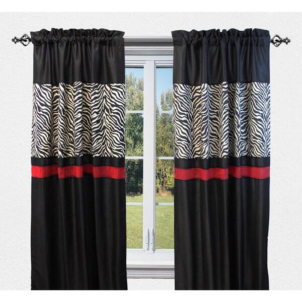 Sherry Kline True Safari Black 84-inch Curtain Panel Pair