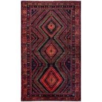 Herat Oriental Afghan Hand-knotted Tribal Balouchi Wool Rug (6'2 x 10'3) - 6'2 x 10'3
