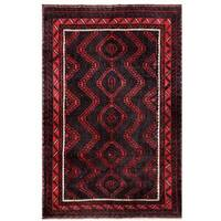Herat Oriental Afghan Hand-knotted Tribal Balouchi Wool Rug (5'7 x 8'3) - 5'7 x 8'3