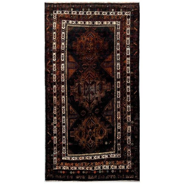 Herat Oriental Afghan Hand-knotted Tribal Balouchi Wool Rug (4'9 x 8'8) - 4'9 x 8'8
