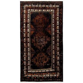 Herat Oriental Afghan Hand-knotted Tribal Balouchi Wool Rug (4'9 x 8'8)