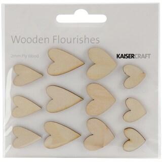 Wood Flourishes-Hearts 12/Pkg