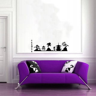 Chinese Town Wall Vinyl Decal Art Mural