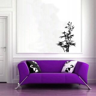 Plant Flora Glossy Black Vinyl Sticker Wall Decal