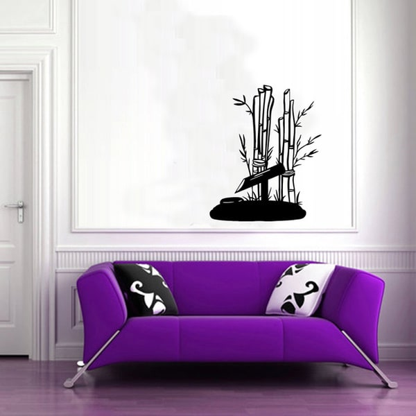 Bamboo Tree Flora Wall Vinyl Sticker Decal Mural Art