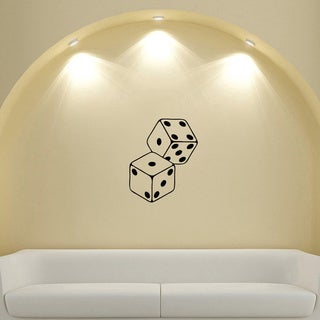 Playing Dice Number Vinyl Sticker Decal Mural Art