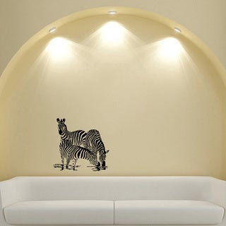 Wild Zebras Vinyl Sticker Decal Mural Art