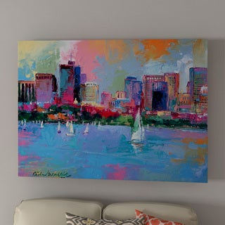 Richard Wallich 'Boston 3' Canvas Art