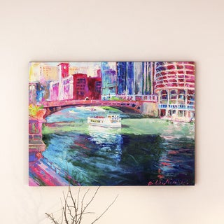 Richard Wallich 'Chicago 2' Canvas Art