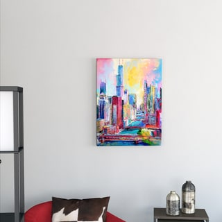 Richard Wallich 'Chicago 3' Canvas Art