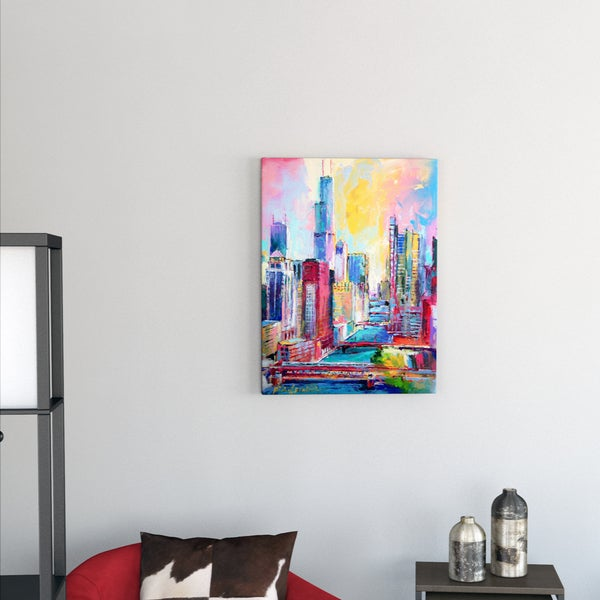 Richard Wallich 'Chicago 3' Canvas Art. Opens flyout.