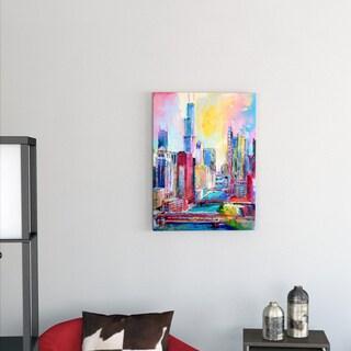 Richard Wallich 'Chicago 3' Canvas Art