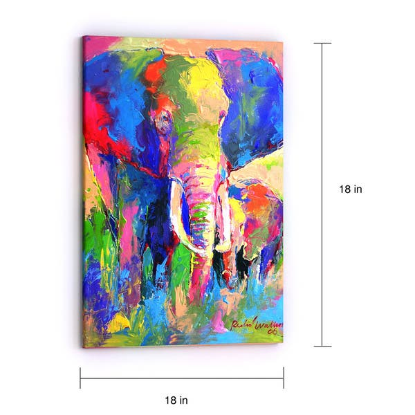 The Curated Nomad Richard Wallich Elephant 1 Canvas Art Overstock 17800885