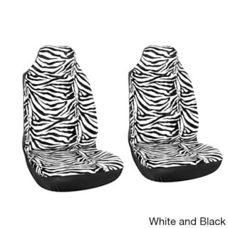 Oxgord Zebra/ Tiger Striped 2-piece Integrated Bucket Seat Cover Set for High Back Sport Seats