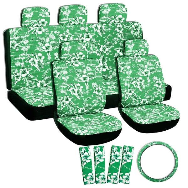 Oxgord Hawaii Green 17-piece Seat Cover Set