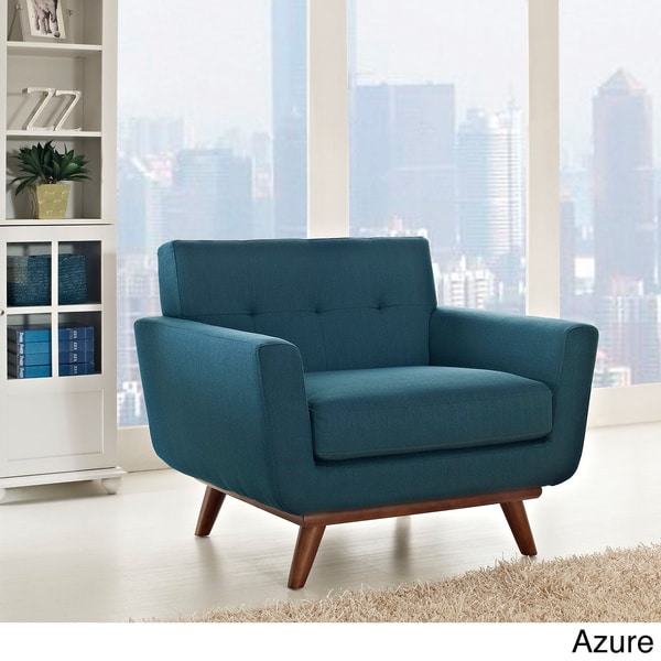 Engage Wooden Leg Mid Century Armchair - 16009691 - Overstock.com Shopping - Great Deals on ...
