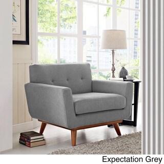 Engage Wooden Leg Mid Century Armchair