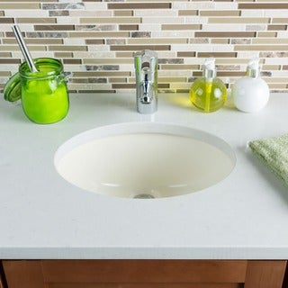Link to Hahn Ceramic Small Oval Bisque Bathroom Bowl (UM) Similar Items in Sinks