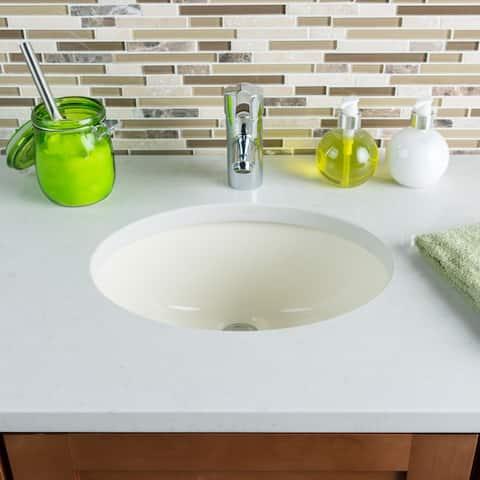 Hahn Ceramic Small Oval Bisque Bathroom Bowl (UM)