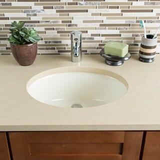 Hahn Ceramic Bathroom Bisque Medium Oval Bowl (UM)