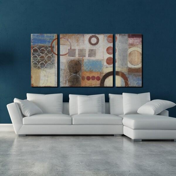 Studio 212 'Reflections' 30x60-inch Textured Canvas Triptych Art Print