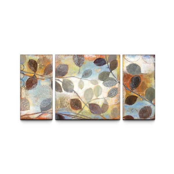 studio 212 u0027autumn museu0027 30x60inch textured canvas triptych art print free shipping today