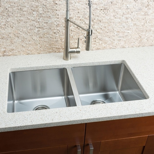 Hahn Notched Farmhouse Kitchen Sink: Shop Hahn Chef Series Handmade Extra Large Equal Double
