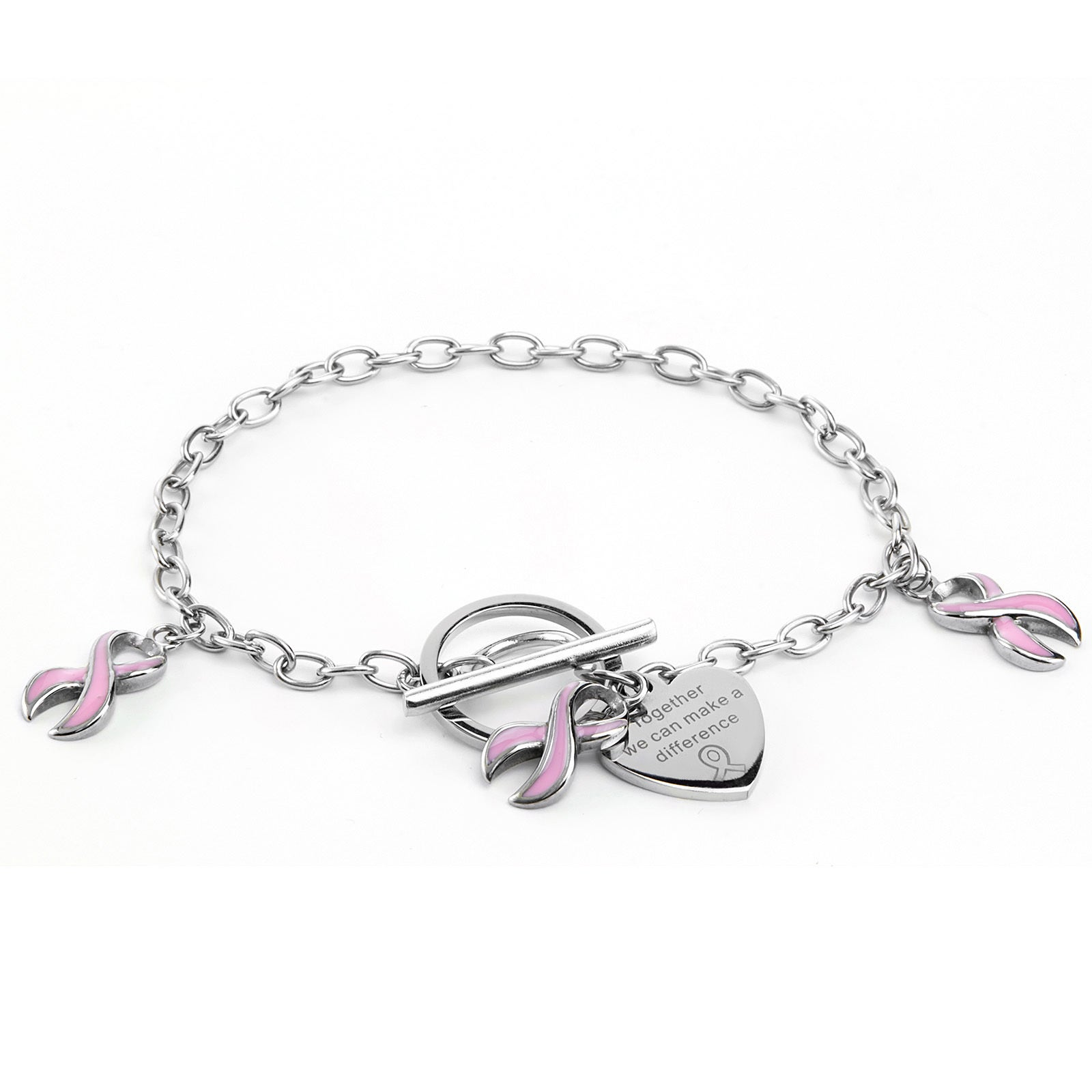 West Coast Stainless Steel Breast Cancer Awareness Pink R...