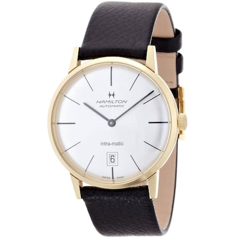Hamilton Men's 'Intra-Matic' Automatic Silver Dial Watch