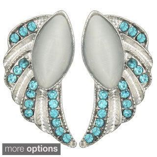 Kate Marie 'Tally' Rhinestone Wings Fashion Earrings