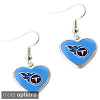 NFL Logo Heart-shaped Dangle Earrings