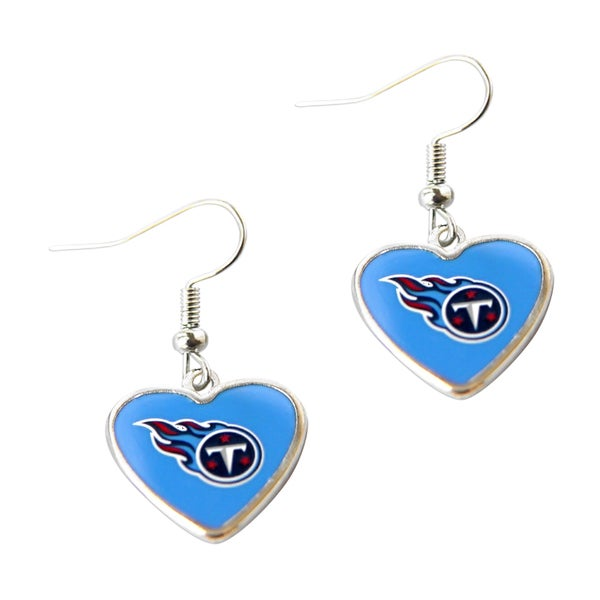 Nfl Logo Heart Shaped Dangle Earrings Free Shipping On