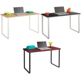 Safco Simple Design Table Desk with Sled Base