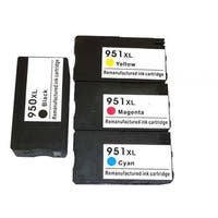 4PK Compatible Ink Cartridge Replacement HP 950XL, 951XL, CN045AN (#140)/ OfficeJet Pro 200, 251, 276, 8100, 8600, N911, N811