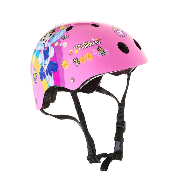 Titan Flower Princess 11-vent Girl's Pink Skateboard or BMX Helmet Size Small with Extra Helmet Pads