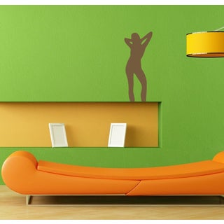 Female Figure Silhouette Brown Vinyl Sticker Wall Decal