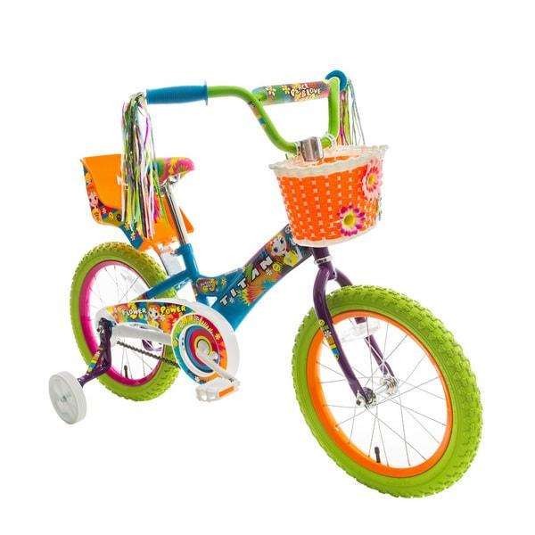 Titan Flower Power Princess Multicolor 16-inch BMX Bike