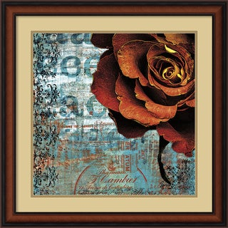Framed Art Print 'Graffiti Rose' by Christina Lazar Schuler 25 x 25-inch