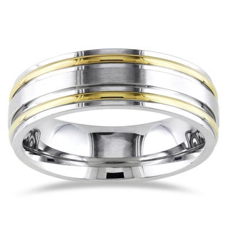 M by Miadora Stainless Steel Wedding Band