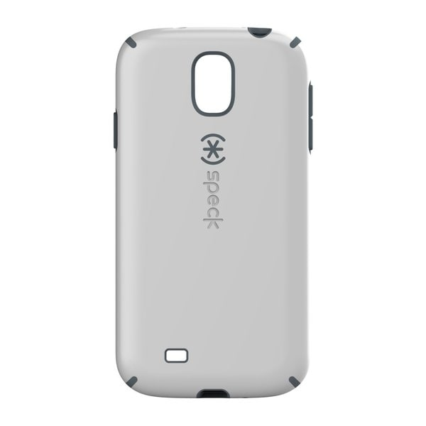 Speck CandyShell Rubberized Hard Case for Samsung Galaxy S 4 - White/Charcoal Gray