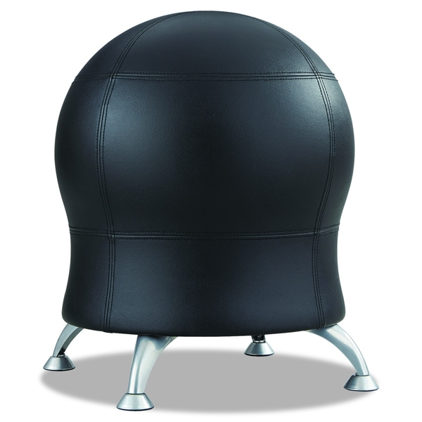 Zenergy Black Vinyl Ball Chair Free Shipping Today