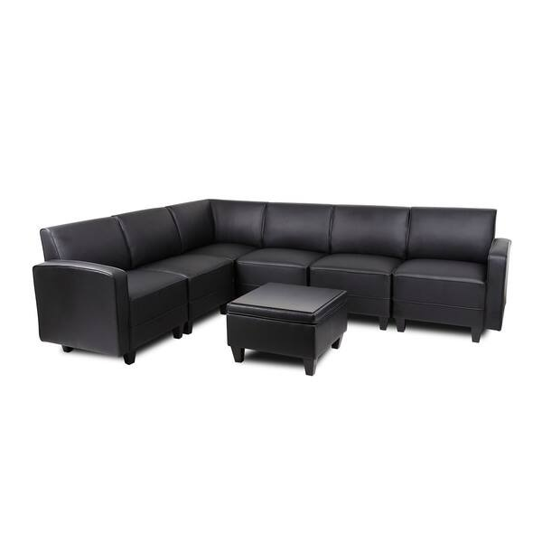 Miraculous Shop Boss Reception Sectional Sofa Arm Seat Free Shipping Beatyapartments Chair Design Images Beatyapartmentscom