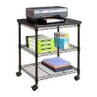 Safco Deskside Black Steel Wire Machine Stand