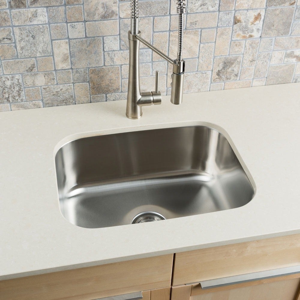 Hahn Stainless Steel Large Single Bowl Undermount Kitchen Sink