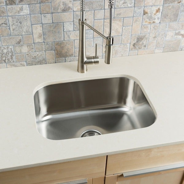 Shop Clark Stainless Steel Large Single-bowl Undermount Kitchen Sink ...