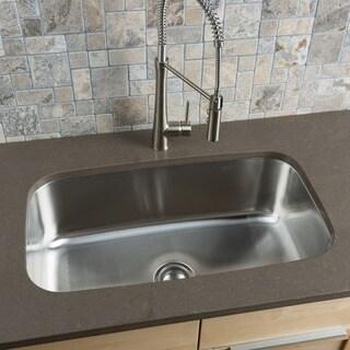Hahn Stainless Steel Extra Large Single-bowl Undermount Kitchen Sink
