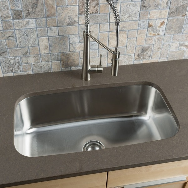 Clark Stainless Steel Extra Large Single-bowl Undermount Kitchen Sink - Clark Stainless Steel Extra Large Single-bowl Undermount Kitchen